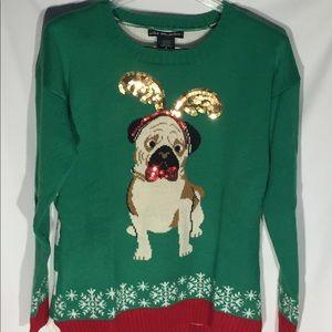 UnitedStates Sweaters Ugly Christmas Sweater M Pug